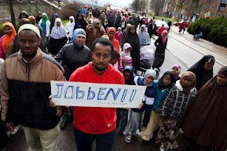 Somalier i Borlänge första maj
