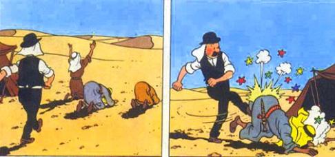 Det var lite ordning på Tintins tid. Då var araberna i öknen och inte i Malmö