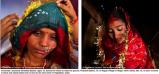 Sumeena Shreshta Balami, till höger, 15, lämnar sitt hem för att träffa sin brudgum, Prakash Balami, 16, i Kagati Village i Nepal, medan Sarita, till vänster, 15, ses täckt i tårar och svett innan hon skickas till sitt nya hem i Rajasthan, Indien.