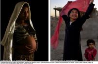 Nujood Ali, till höger, var tio när hon flydde sin misshandlande, mycket äldre make och tog en taxi till domstolsbyggnaden i Sanaa, Jemen, medan Debritu, 14, till vänster flydde från sin man, gravid i sjunde månaden.
