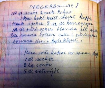negerbollar recept