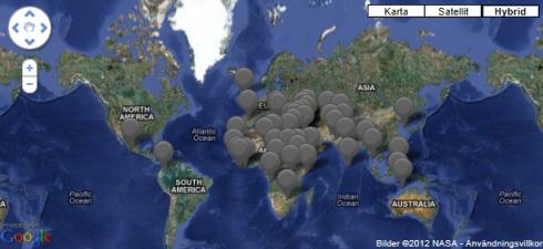 Världskarta konflikter