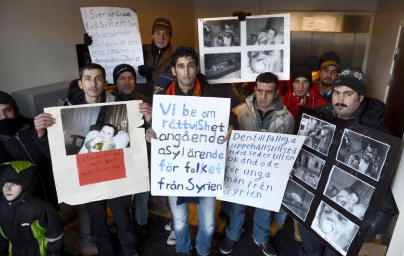 Asylsokande hotade branna sig