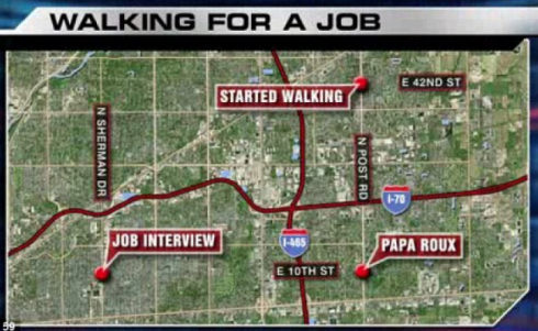 walking for a job