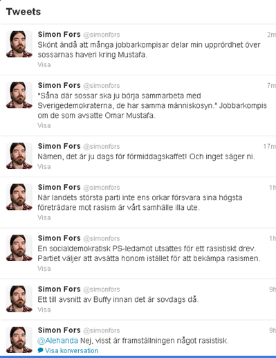 Simon Fors tweets