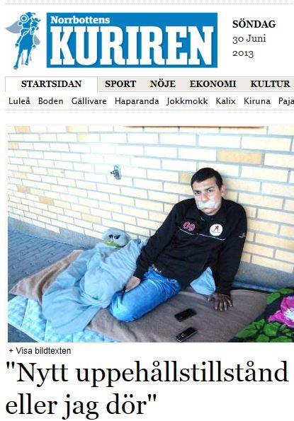 Kuriren asylsökande