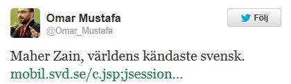 Omar Mustafa twittrar igen
