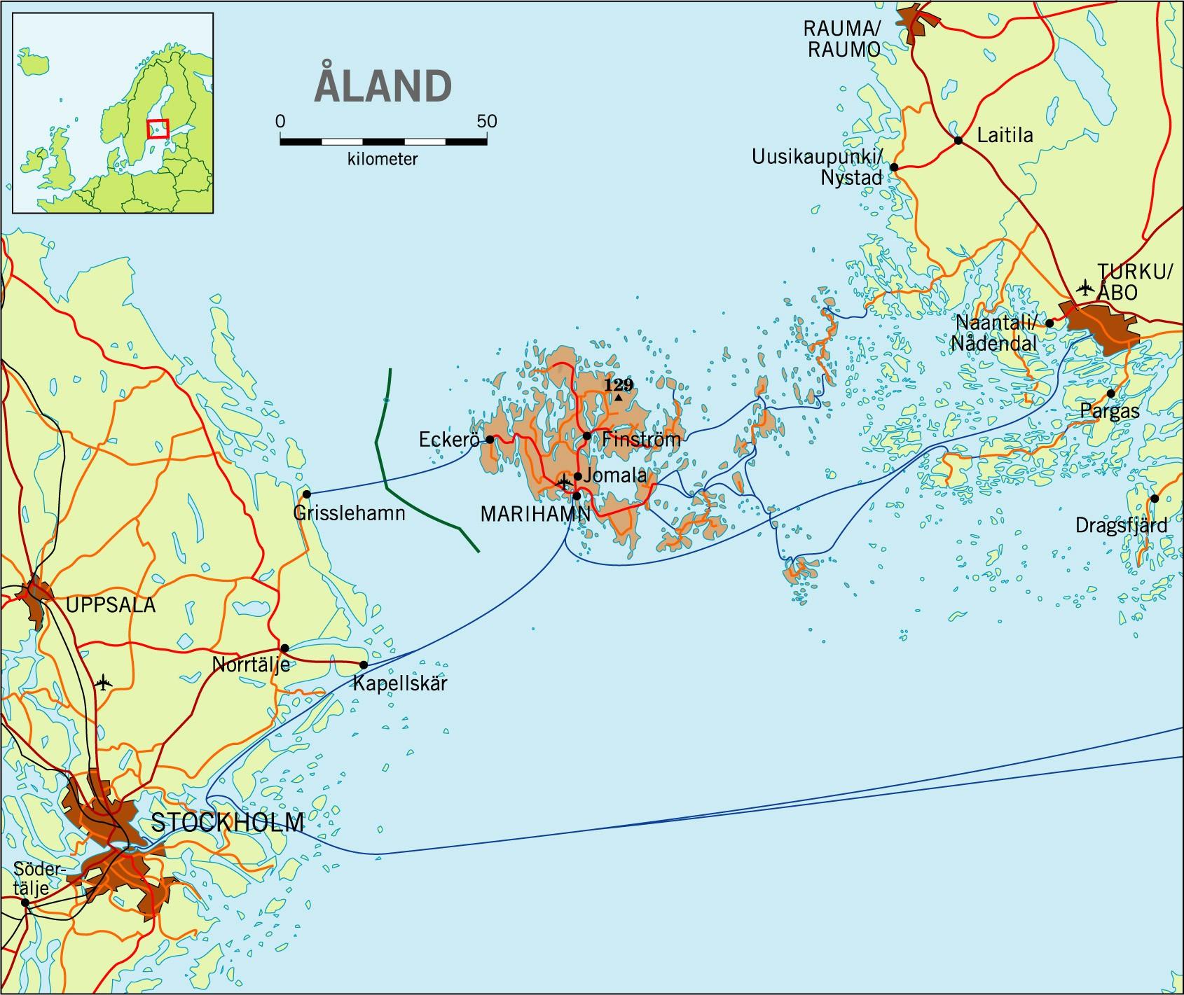 Karta Aland Sverige Karta 2020