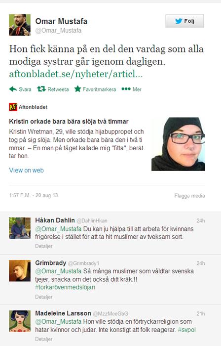 Omar Mustafa på twitter