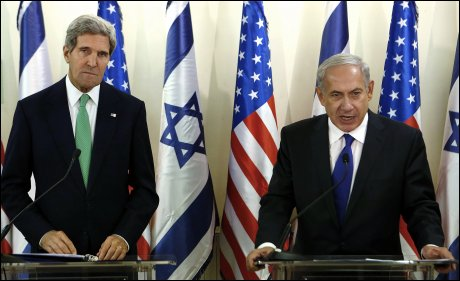 Kerry USA and Netanjahu Israel