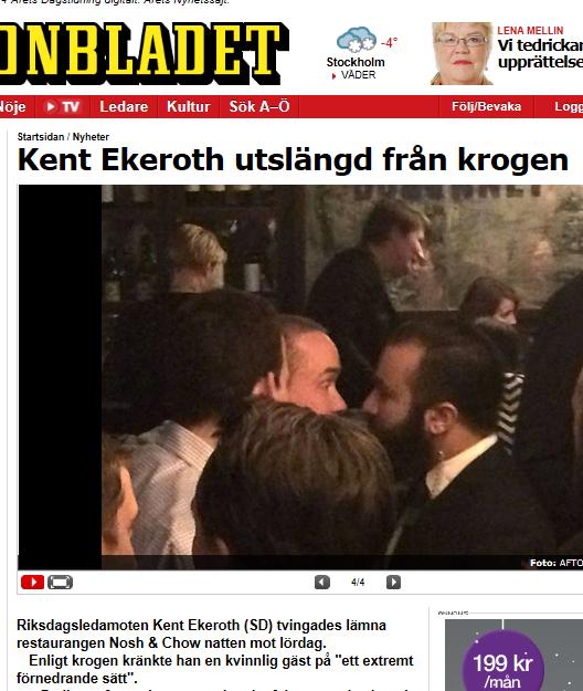 Kent ekeroth utkastad fran stureplanskrog