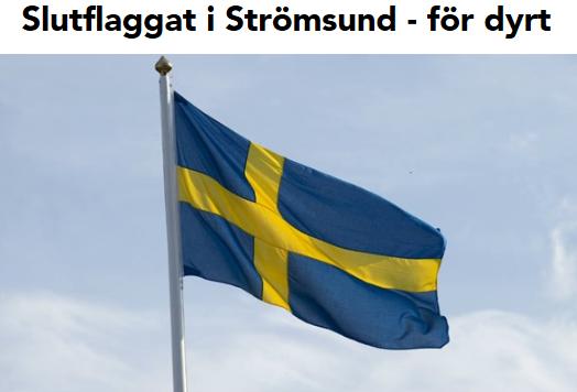 Nu Skrotas Den Svenska Flaggan Petterssons Gor Sverige Lagom