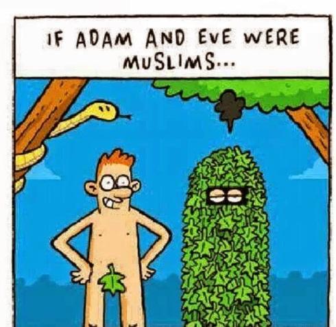 adam o Eva som mussler