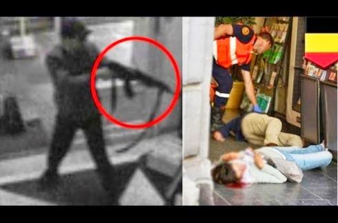 Bryssel judiska Museét under terrorattack av tunisisk Jihadist med franskt pass, nyss hemkommen från Syrien