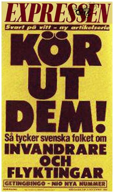 Ex pressens löpsedel den 6 september 1993.