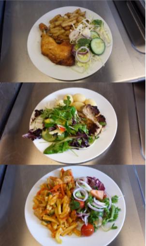 Några exempel på lunch på en asylförläggning. Pettersson har provätit tre gånger och den som klagar borde få gå från bordet hungrig....