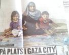 Mamma Mirvat al-Jaddi med barnen i Gaza