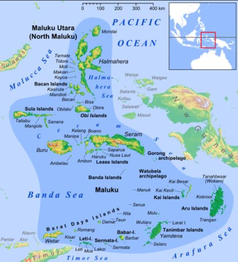 Moluckerna - Maluku - tillhör Indonesien, världens folkrikaste muslimska nation.
