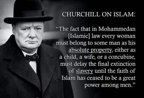 churtchill om islam