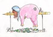 Darura ger muslimer möjligheter att äta griskött grillat på glöden från några koraner.