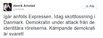 """Här visar Henrik Arnstad att han är blåst på riktigt. Tänk sedan på att han anlitas som """"expert"""" av våra PK-media"""