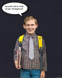 Ni kanske inte tror det, men den här lille gossen är faktiskt Sveriges utbildningsminister.