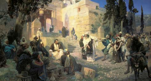 Vasilij Polenov. Kristus och synderskan