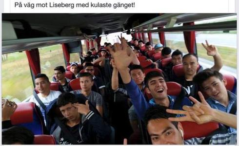 Barn på utflykt till Liseberg