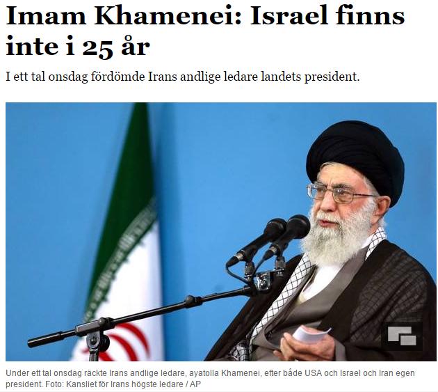 Israels politik ar livsfarlig