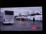 ensamkommande sover i bussar