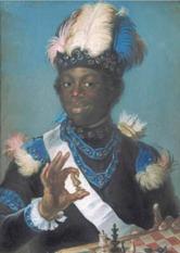 Den första negern i Sverige, hovnegern Gustav Badin. Wikipedia