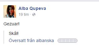 Skål på albanska