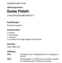 Fridolin CV