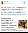 Eskilstuna-Kurirens politiske redaktör vill tysta debatten