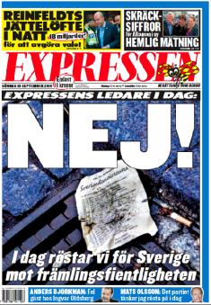 En neutral och opartisk löpsedel publicerad valdagen den 19 september 2010 som Anna Dahlberg låg bakom.