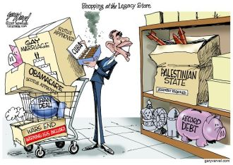 President Obama is acquiring quite a legacy. The most costly may be the Palestinian State. Guess who will pay for it?