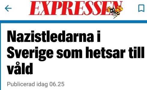 """I Expressens artikel om """"nazistledare"""" hängs alla ut med namn och bild."""