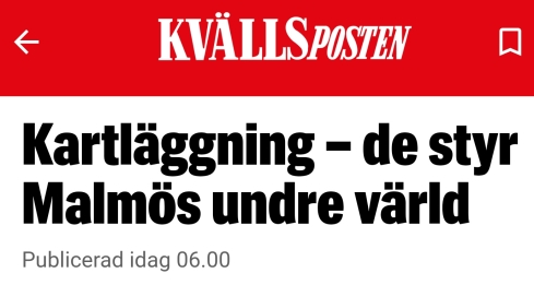 """205 yrkeskriminella invandrare i Malmö. Expressen namnger inte en enda och bilder kan vi bara drömma om för då syns det vilken del av världen """"skåningarna"""" kommer ifrån."""