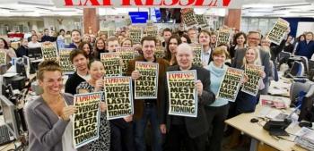 Expressens helvita redaktion för en tid sedan