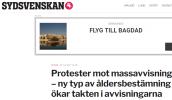 Lägg märke till annonsen på Sydsvenskan. Till länderna där det är för farligt att leva går det reguljärflyg från Malmö till Bagdad och Kabul för 6000 kronor. Tar man sig till Kastrup blir det billigare.