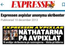 Expressen avpixlar