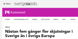 Morgan, Sverige är värst i Europa och Malmö är värst i Sverige och du är ansvarig och nöjd.