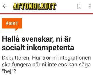 Aftonbladet socialt inkompetenta