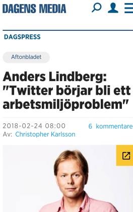 Anders Lindberg miljöproblem