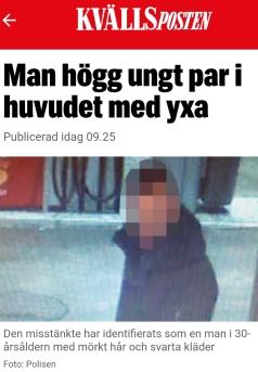 Kvällsposten pixlad yxman