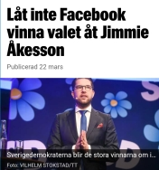 Expressen porta Åkesson