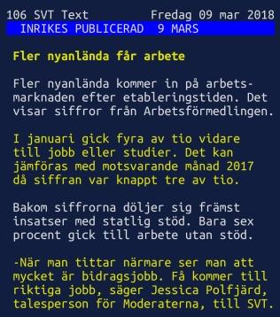 SVT textTV sysselsättning