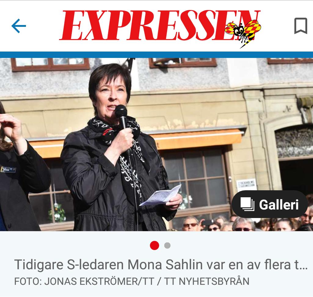Mona sahlins pension utmats av kronofogden