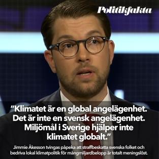 Åkesson om klimatet