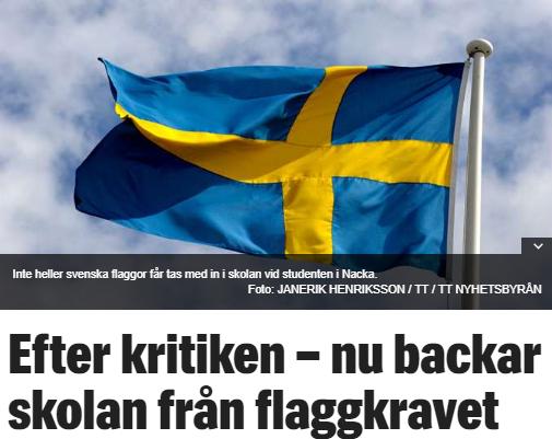 Syltryggar I Sverige Forbjuder Svenska Flaggor Petterssons